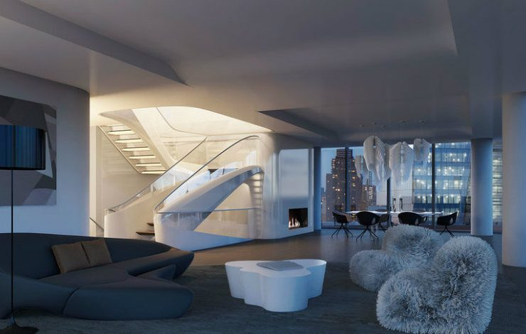 Discover The $50 Million New York Penthouse by Zaha Hadid Architects  large ZahaNY 740x470  Front Page large ZahaNY 740x470