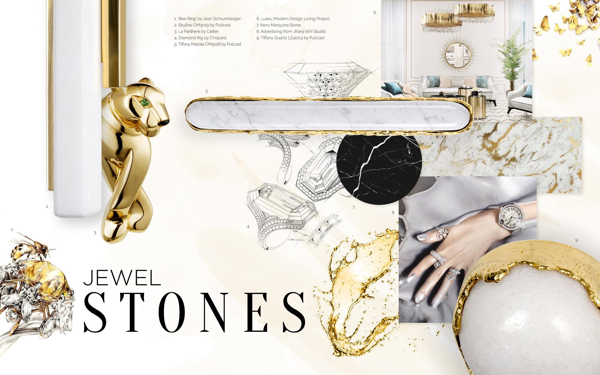 Luxury jewel stones amazing moodboards Amazing MoodBoards Trends to Inspire You Luxury jewel stones