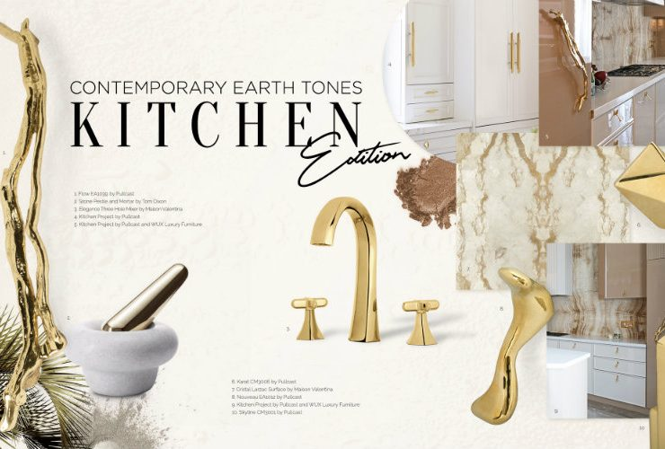 earth tones Can You Handle This Trend? – Contemporary Earth Tones Kitchen earthtones moodboard 740x500
