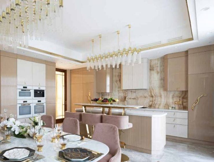 A Luxury Kitchen Where Gold and Coral Create a Stunning Environment luxury kitchen A Luxury Kitchen Where Gold and Coral Create a Stunning Environment 2 740x560  Front Page 2 740x560