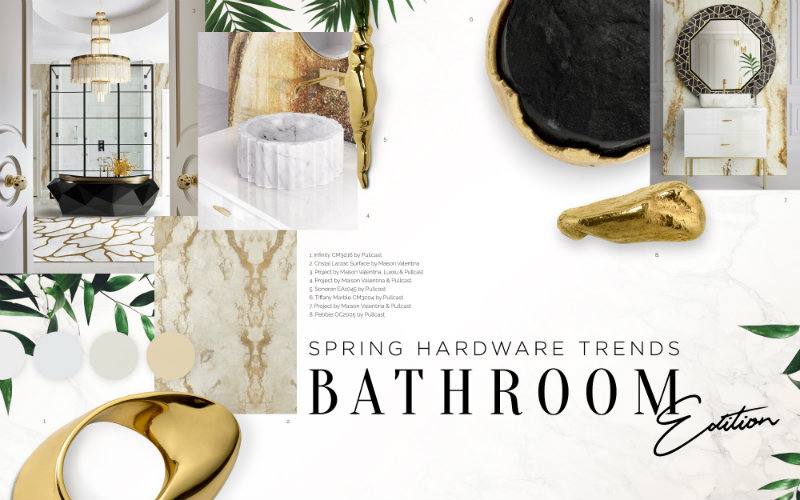Can You Handle This Trend? - Spring Bathroom Trends hardware inspirations Jewellery Hardware Inspirations – High-End Hardware Decor Examples marblebrass