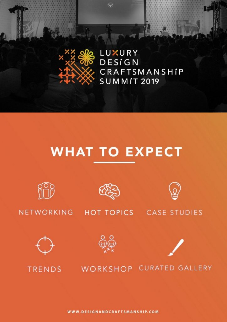 Presenting the 2nd Edition of The Luxury Design & Craftsmanship Summit luxury design Presenting the 2nd Edition of The Luxury Design & Craftsmanship Summit Presenting the 2nd Edition of The Luxury Design Craftsmanship Summit 2
