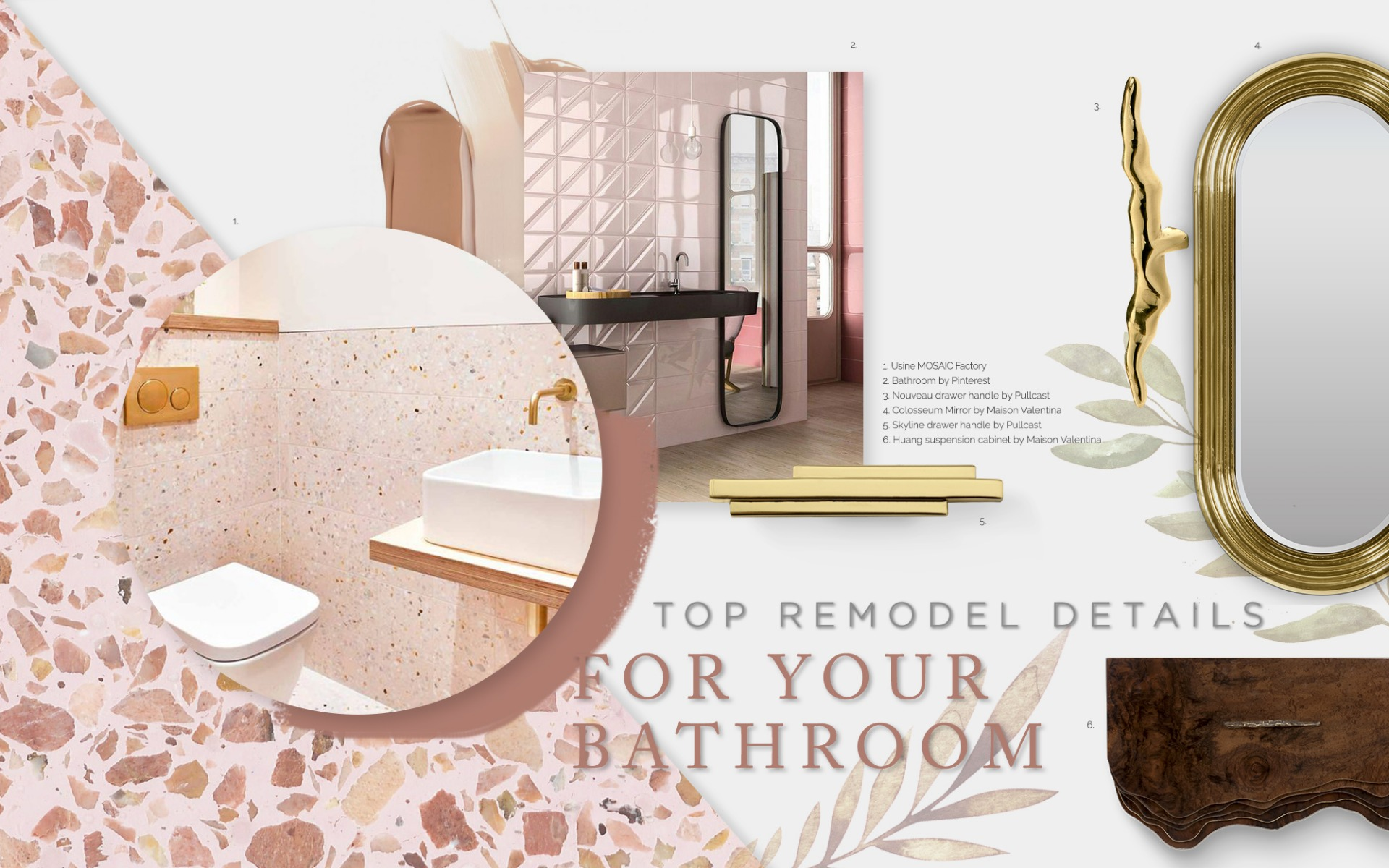 Bathroom Remodel Trends that Focus on Details bathroom remodel trends Bathroom Remodel Trends that Focus on Details moodboard