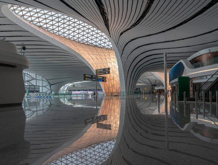 Zaha Hadid Architects' Beijing Airport Project Unveiled zaha hadid architects Zaha Hadid Architects' Beijing Airport Project Unveiled Beijing Daxing International Airport Zaha Hadid CGTN dezeen 03 1704x959 740x560
