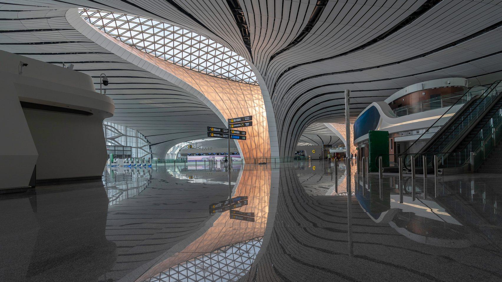 Zaha Hadid Architects' Beijing Airport Project Unveiled zaha hadid architects Zaha Hadid Architects' Beijing Airport Project Unveiled Beijing Daxing International Airport Zaha Hadid CGTN dezeen 03 1704x959