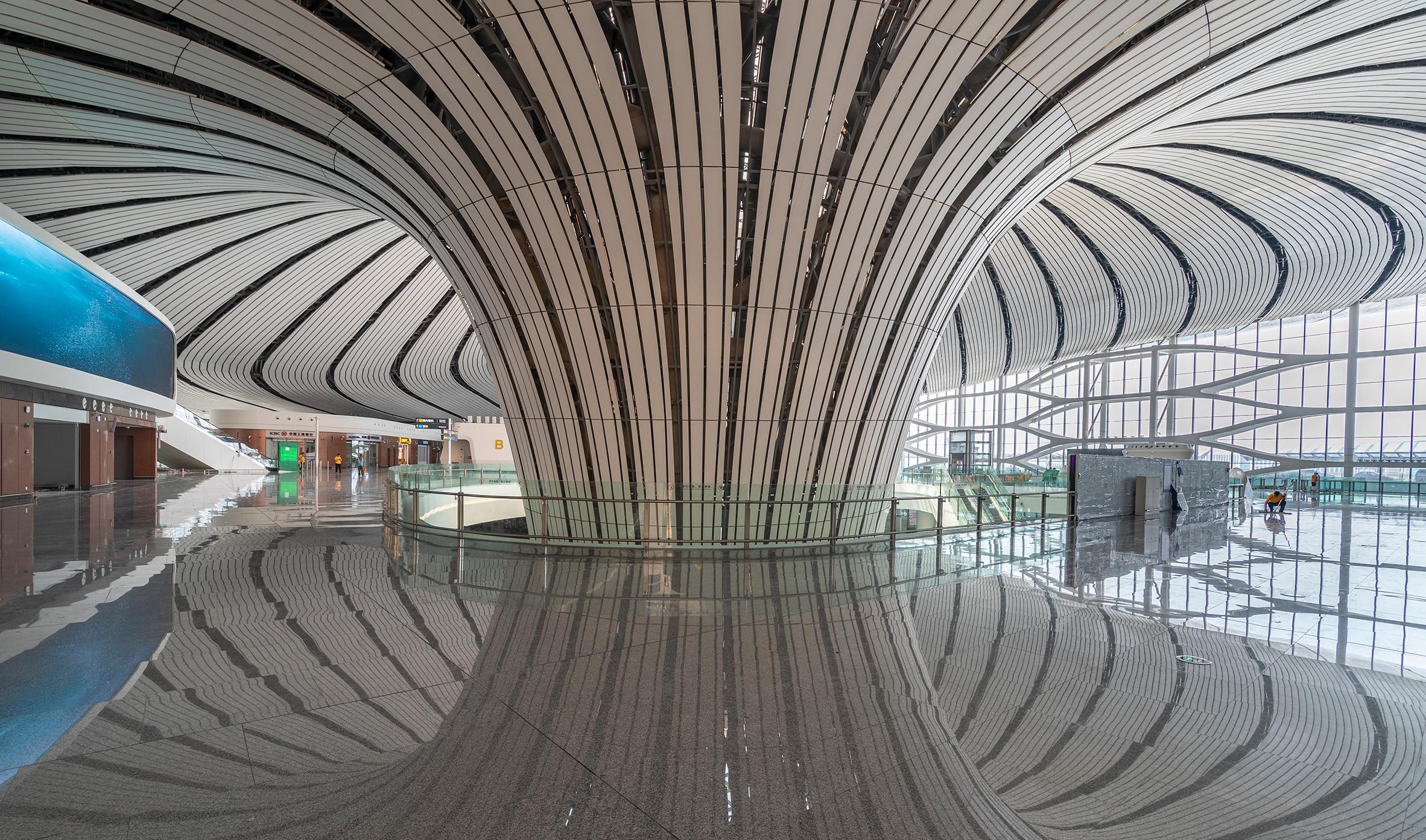 Zaha Hadid Architects' Beijing Airport Project Unveiled zaha hadid architects Zaha Hadid Architects' Beijing Airport Project Unveiled Beijing Daxing International Airport Zaha Hadid CGTN dezeen 05
