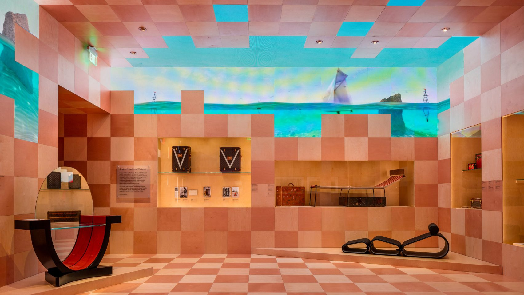 Louis Vuitton Exhibition Celebrates 160 Years of Design Collaborations louis vuitton exhibition Louis Vuitton Exhibition Celebrates 160 Years of Design Collaborations louis vuitton x exhibit design fashion los angeles california usa dezeen 2364 hero 1704x959