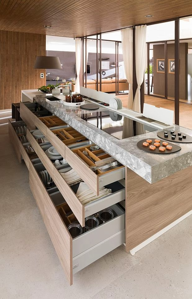 Kitchen Island Designs You'll Want For Yourself kitchen island design Kitchen Island Designs You'll Want For Yourself Functional Contemporary Kithen Design